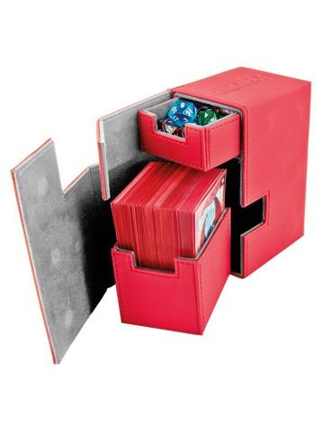 Ultimate Guard - Кожаная красная коробочка с отделением для кубиков