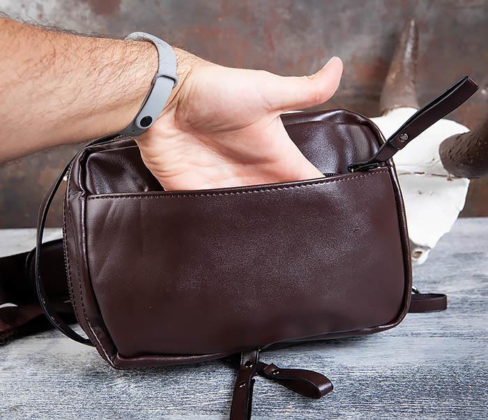 BAG452-2 Коричневый рюкзак с одной лямкой через плечо фото 08