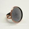 Основа для кольца с сеттингом для кабошона 23 мм (цвет - античная медь)