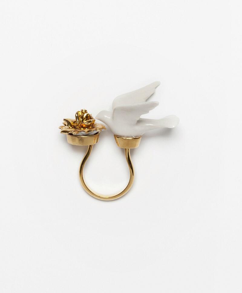Кольцо Flower Dove