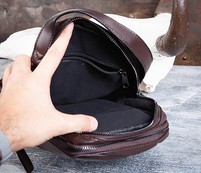 BAG452-2 Коричневый рюкзак с одной лямкой через плечо фото 10