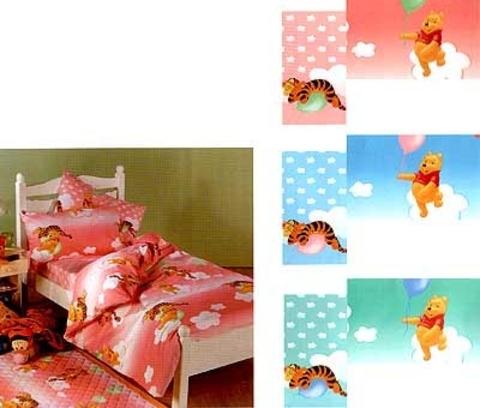 Детское постельное белье Caleffi Pooh Felicita аква