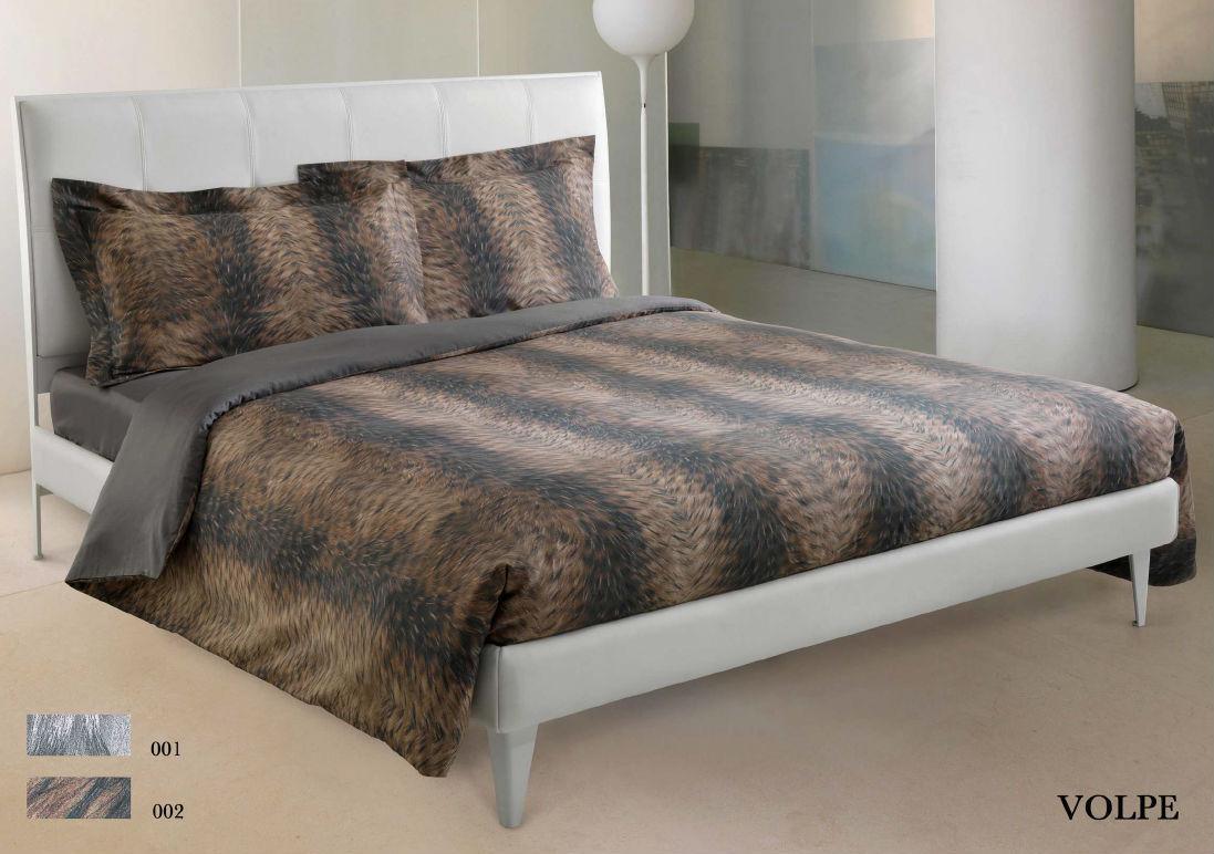 Постельное белье 2 спальное евро макси Roberto Cavalli Volpe коричневое
