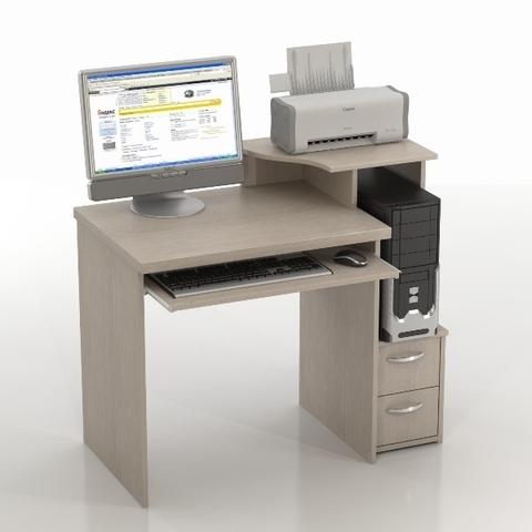 Компьютерный стол КОЛИБРИ-КС-10 беленый дуб