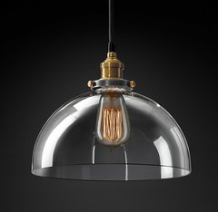 20th C. Factory Filament Clear Glass Dome Pendant