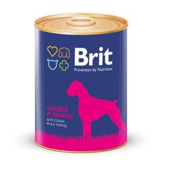 Консервы для собак, Brit Premium, с сердцем и печенью