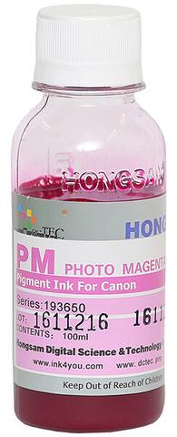 Чернила Dctec для Canon Pixma PRO, пигментные фото малиновые (Photo magenta), 100 мл (Серия 193650)