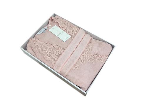 НАБОР женский махровый халат с тапками ANNA - АННА Maison Dor Турция