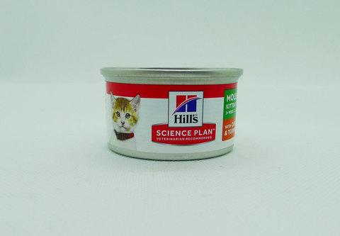 Hill's консервы для котят нежный мусс с курицей и индейкой 82г