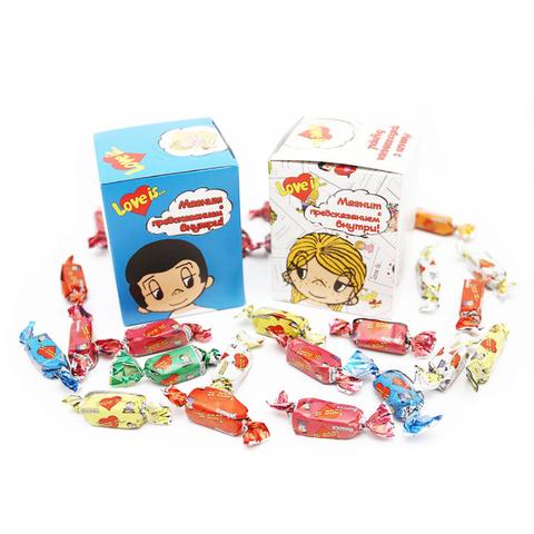 Love is… жевательные конфеты ассорти (магнит с предсказанием внутри!)
