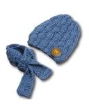 Шапка и шарф - Деним. Одежда для кукол, пупсов и мягких игрушек.