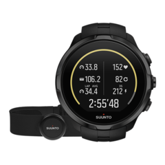 Умные наручные часы Suunto Spartan Sport Wrist HR+Belt all black SS023364000