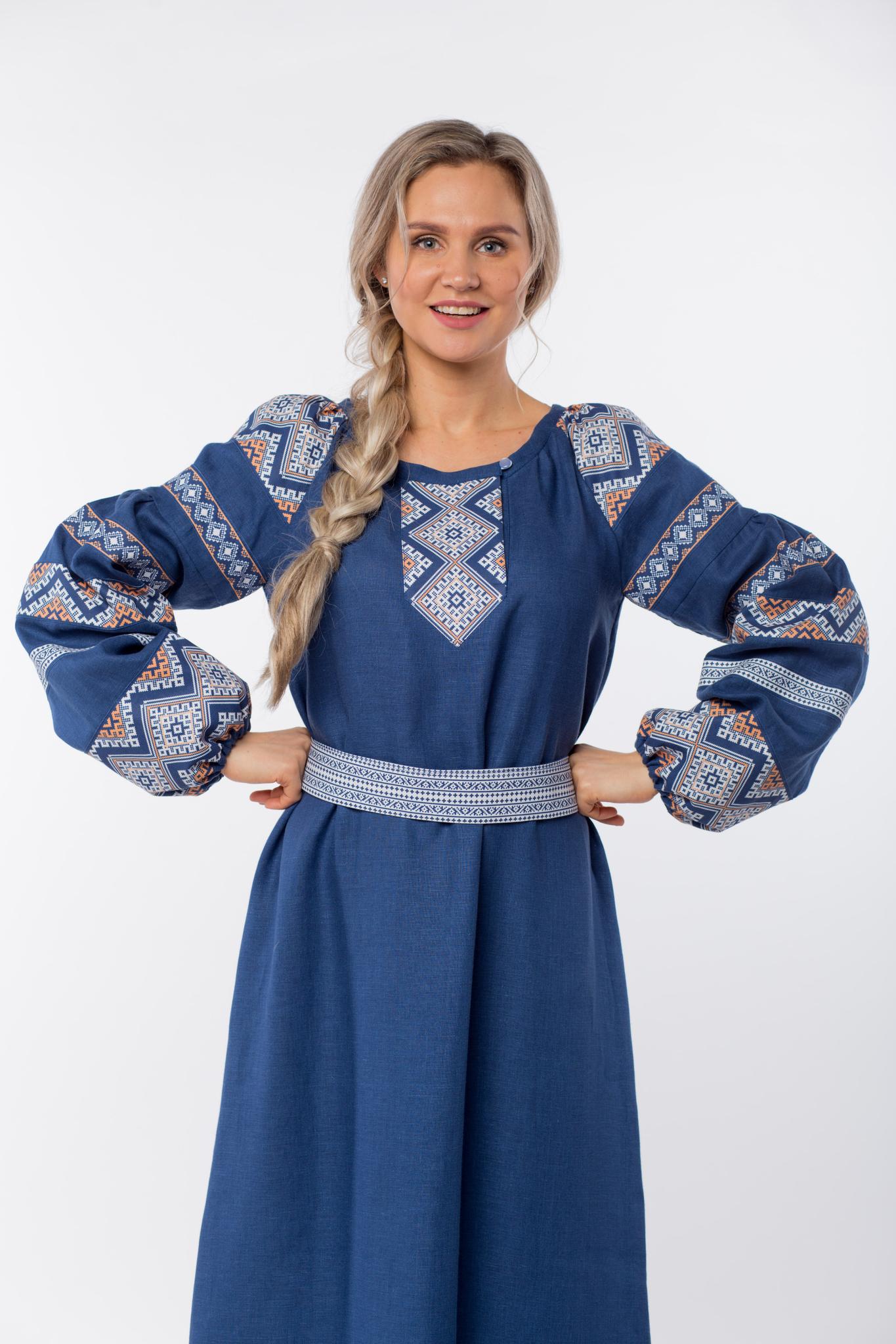 Платье льняное Алтайское приближенный фрагмент