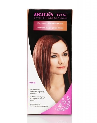 Irida Irida Ton Оттеночный бальзам для окраски волос Махагон 2*25мл