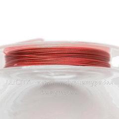 Тросик ювелирный 0,45 мм (цвет - розово-красный) примерно 10 метров