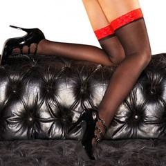 Женские эротические чулки с кружевной резинкой