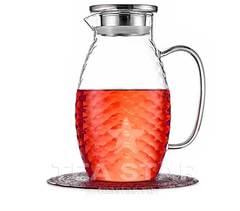 Кувшин-графин 1,8 л стеклянный для воды, холодных и горячих напитков