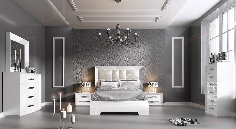Спальня FRANCO Furniture CARMEN белая