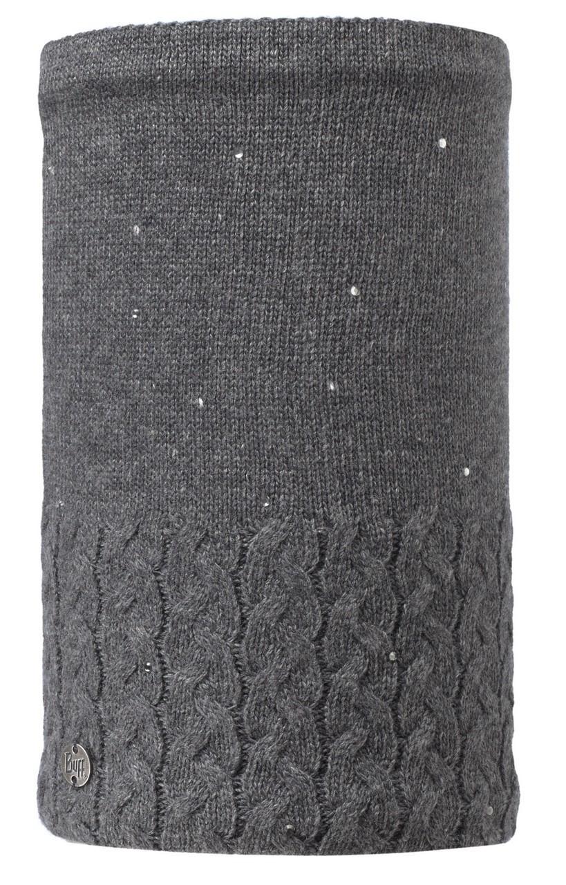 Вязаный шарф-труба с флисовой подкладкой Buff Elie Grey