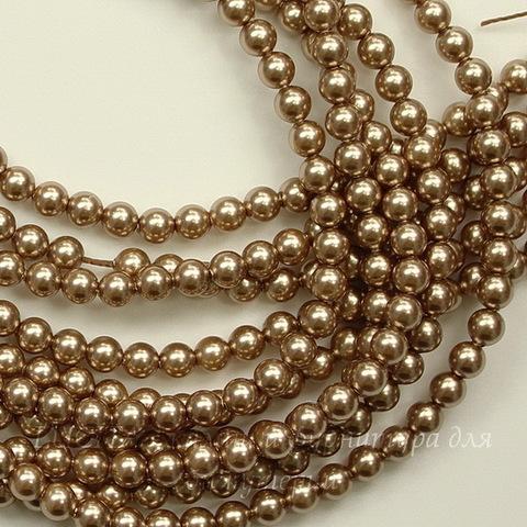5810 Хрустальный жемчуг Сваровски Crystal Bronze круглый 3 мм, 10 шт