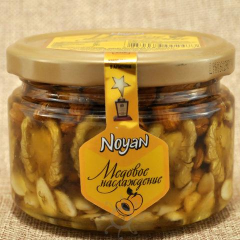 Мед с абрикосовыми косточками и грецким орехом Ноян, 320г