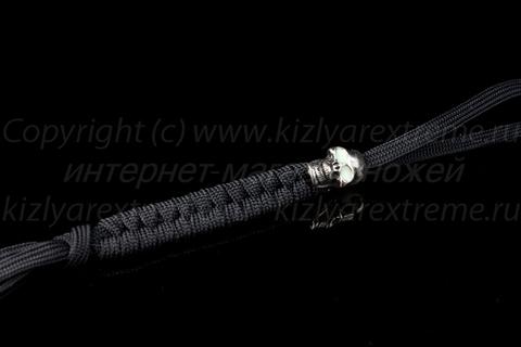 Черный плоский темляк