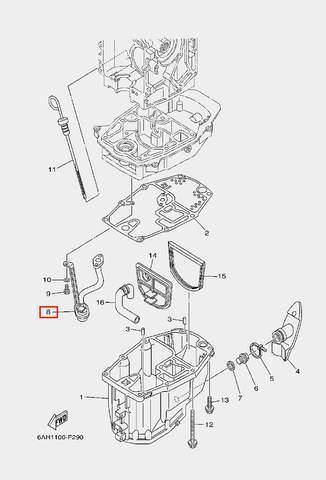 Маслофильтр грубой очистки для лодочного мотора F20 Sea-PRO (22-8)