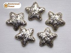 Мягкая блестящая звезда золото и серебро №3