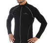 Мужская беговая толстовка Brubeck Windproof Zip Top (LS11060) черная
