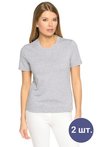 Две женских футболки цвета меланж