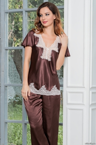 Комплект женский шелковый с брюками Mia-Amore   MARILIN Мэрилин  3106