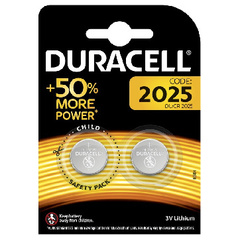 Батарейка DURACELL CR2025 3V Lithium бл/2