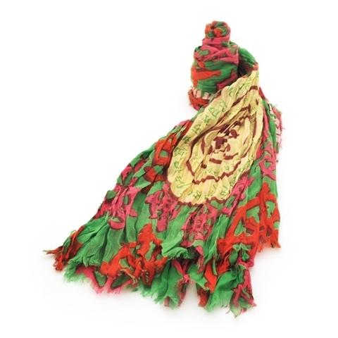 Платок Колесо Драхмачакры (зеленый)