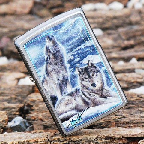 Зажигалка Zippo 28002 Mazzi Howling Wolves