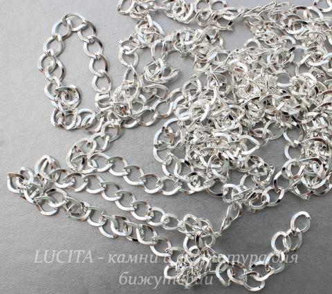 Цепь (цвет - серебро) 8х7 мм, примерно 2 м