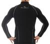 Мужская беговая толстовка Brubeck Windproof Zip Top (LS11060) черная фото