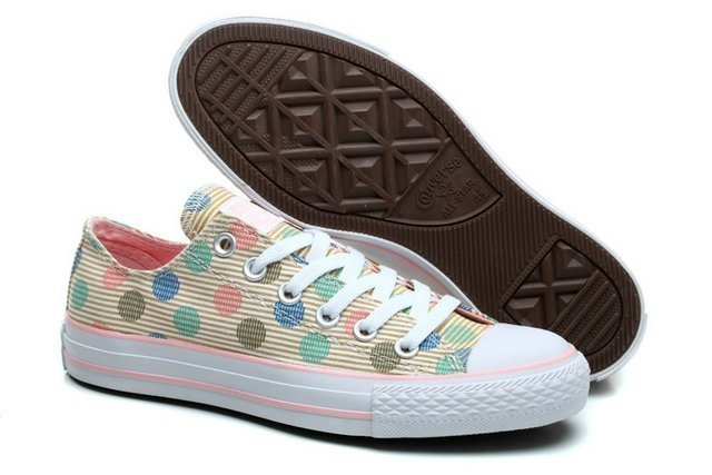 CONVERSE CHUCK TAYLOR ALL STAR LOW MULTI COLOR POLKA (002)
