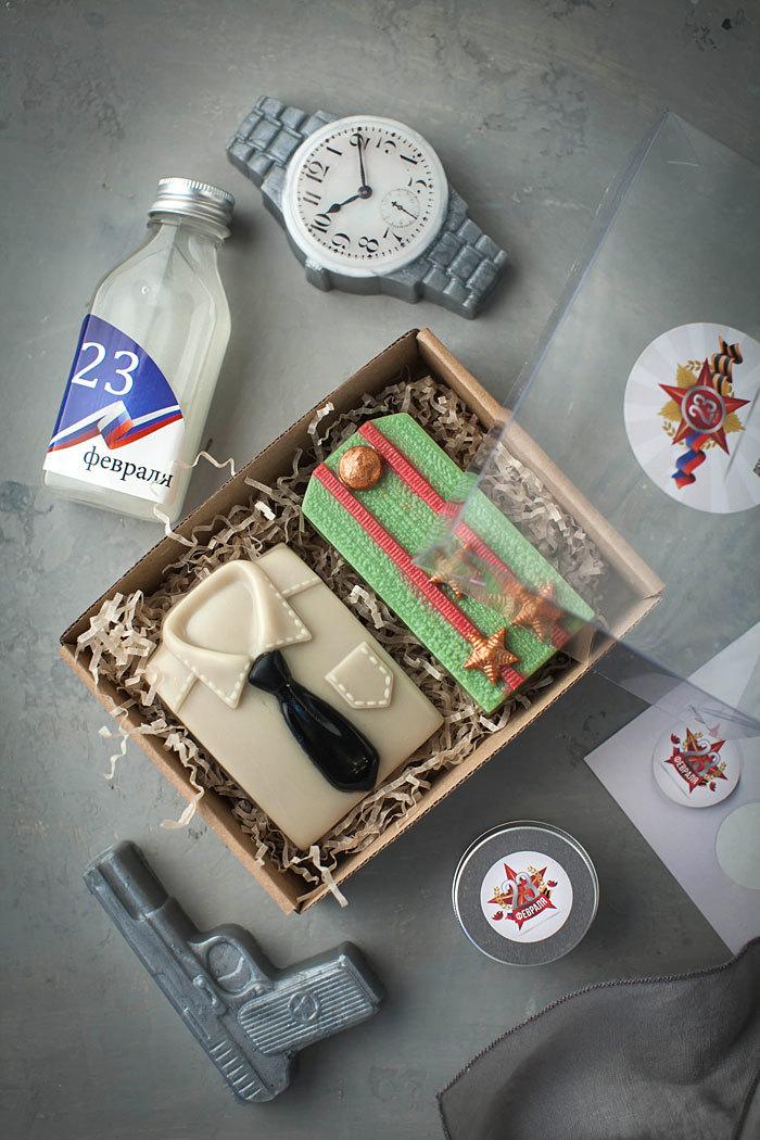 Мыло-подарок военному. Форма Погон