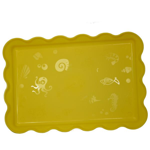 """Песочница """"Пляж"""" для кинетического песка - желтая."""