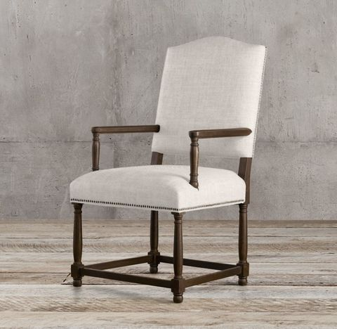 Empire Camelback Fabric Armchair