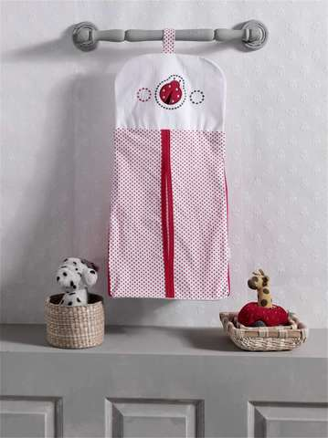 """Прикроватная сумка серии """"Little Ladybug"""", 100% хлопок, размер 30*65 (стандарт)"""