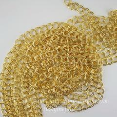 Цепь двойная (цвет - золото) 8х7 мм, примерно 4 м