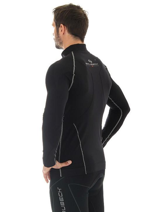 Мужская толстовка Brubeck Windproof Zip Top (LS11060) черная