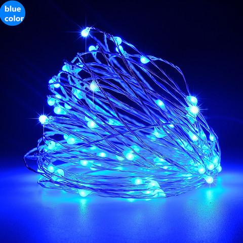 Гирлянда светодиодная проволока LED синяя светодиодная
