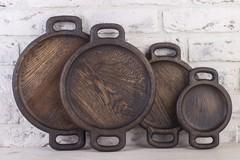 Фото представлено для сравнения размеров диаметров круглых тарелок: 14,20,24 и 27см
