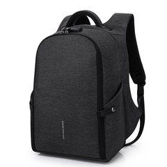 Рюкзак антивор для ноутбука 15,6 KAKA 806 чёрный