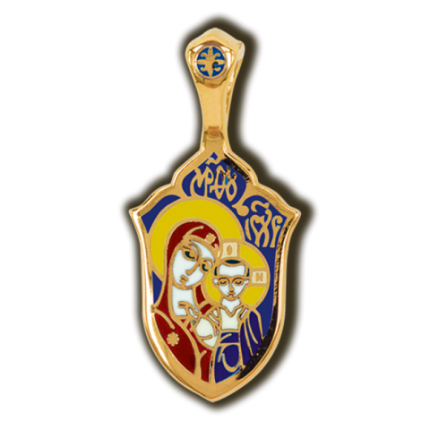 Казанская икона Божией Матери. Образок. Эмаль