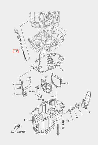 Щуп маслянный для лодочного мотора F20 Sea-PRO (22-11)