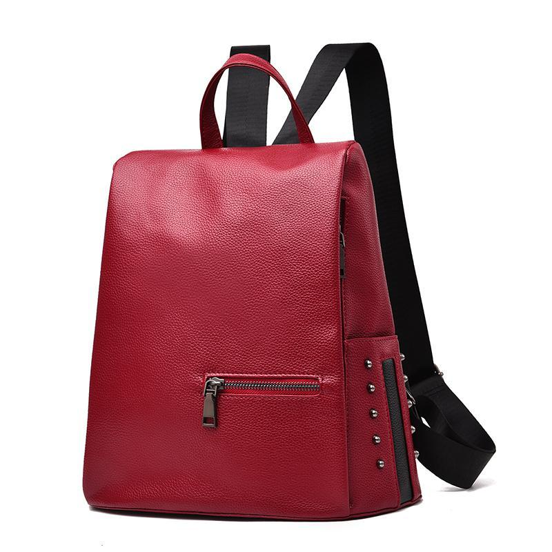 Женский средний рюкзак 30х30х14 см красный 3378-2