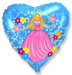 Шар F (18''/46 см) Принцесса сердце / Princess